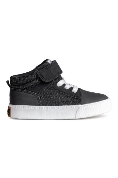 Cotton twill trainers - Black -  | H&M CN 1